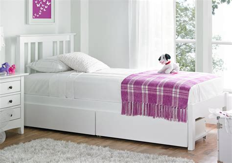 Malmo White Solo Wooden Bed Frame Kids Single Beds