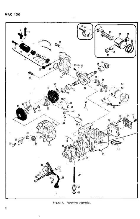 McCulloch Mac 130 Chainsaw Parts List