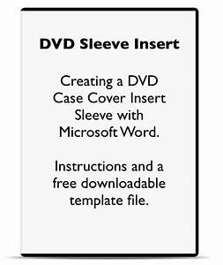 Case Insert Template Using Microsoft Word To Make A Dvd Case Cover Sleeve