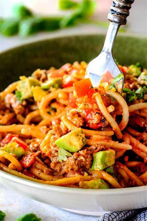 minute taco spaghetti simple prep tons  flavor