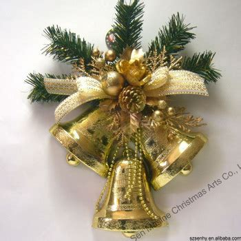 large gold christmas bells 30cm plastic bell large decorations buy large
