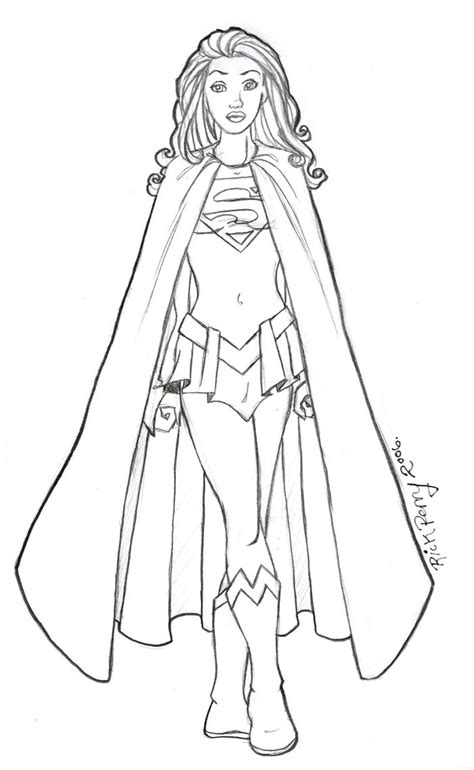 supergirl coloring pages    print