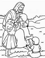 Jesus Coloring Loves Printable Children Christ Cool2bkids Sheets Bible Sunday Colouring Preschool Sheet Stories God Crafts Lds Template Printables Temptations sketch template