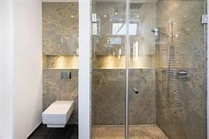 Beleuchtung Dusche Nische : ein luxuri ses bad mit naturstein bad bad naturstein bad und dusche beleuchtung ~ Yasmunasinghe.com Haus und Dekorationen