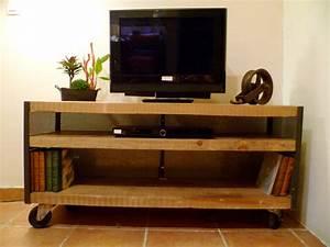 Meuble Tv Etagere : meuble tv roulettes etagere tv design trendsetter ~ Teatrodelosmanantiales.com Idées de Décoration