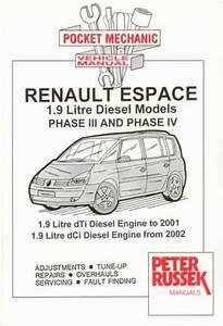Peter Russek Reparasjonsh U00e5ndbok Renault Espace Mk3 Mk4 Diesel