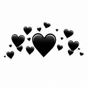Black heart crown ♥ black heart crown blackhear...