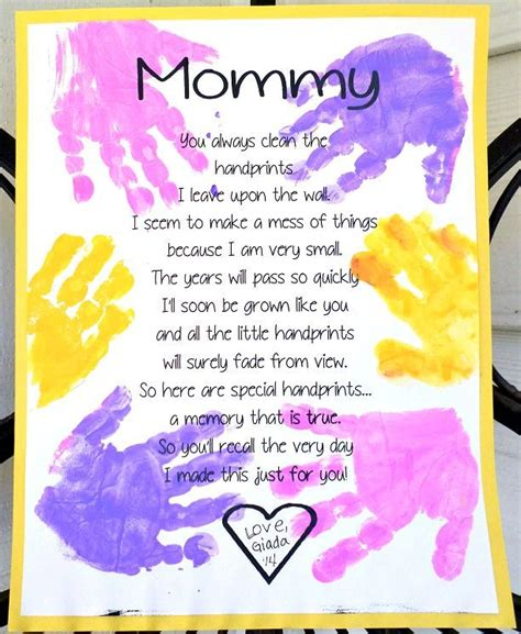 printable handprint s day poem a well mothers 334 | fab3f5eaee2c2d379ed0715e0644d89b