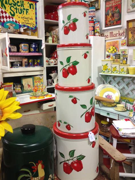 Apple Kitchen Canisters by Apple Canisters Kitchen Kitsch In 2019 Vintage