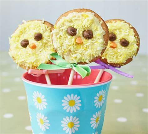vanilla chick biscuit pops recipe bbc good food