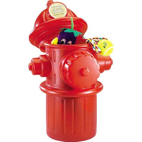 life size fire hydrant container  dog toys birthday