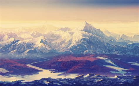 landscape, Painting Wallpapers HD / Desktop and Mobile ...
