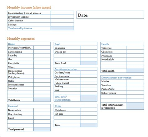 budget sheet templates   ms word excel