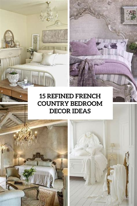 Country Decorating Ideas For Bedroom by 15 Refined Country Bedroom D 233 Cor Ideas Shelterness