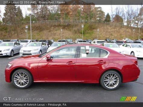 red lexus 2014 riviera red 2014 lexus gs 350 awd flaxen interior