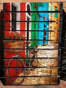 Diy, Recycled, Pallet, Wood, Wall, Art