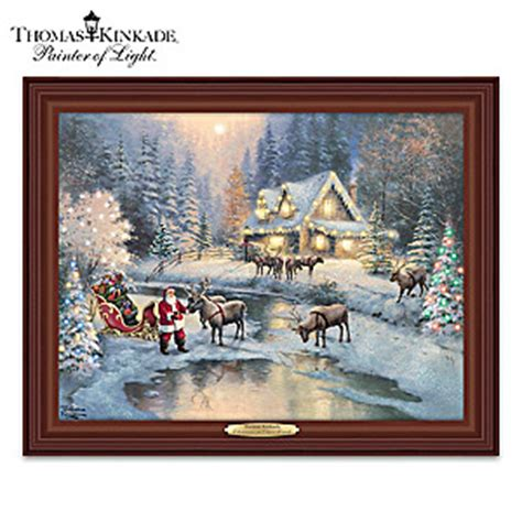 17 inch lighted church scene with colorful rice lights kinkade at deer creek canvas print light up wall decor