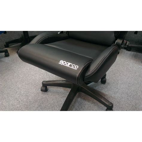 sparco r100 vinyl racing office sports seat gsm sport seats
