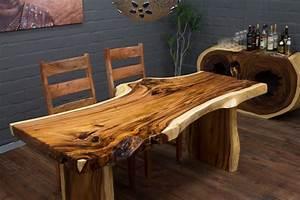 Extravaganter Baumstamm Esstisch Aus Suar Massivholz Nr16075