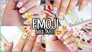 Emoji nail art tutorials