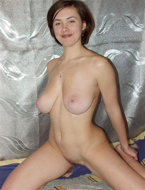 sexy milf with big boobs and hairy pussy plays with dildo