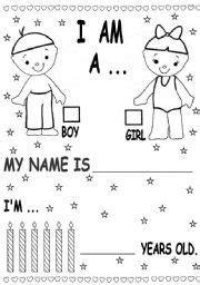 exercises  kindergarten  english
