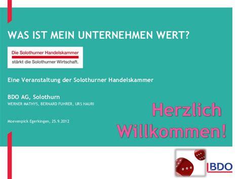 """Präsentation """"was Ist Mein Unternehmen Wert?"""""""