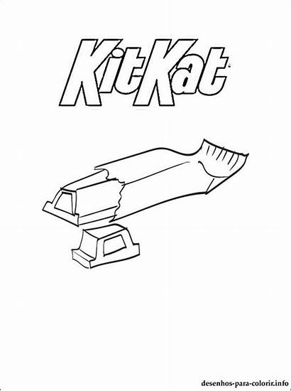 Kitkat Colorir Kat Coloring Kit Desenho Colorare