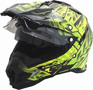 Motocross Helm Mit Visier : motorradhelm mx enduro quad helm schwarz gr n mit visier ~ Jslefanu.com Haus und Dekorationen
