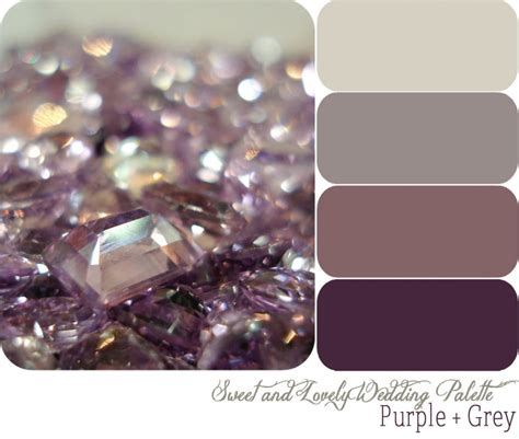 purple grey color chic purple color schemes decoration idea wedding color