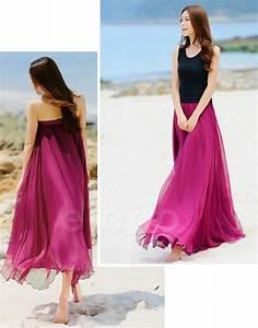 rose pink beach wedding bridesmaid dress long chiffon With long dress skirts for wedding