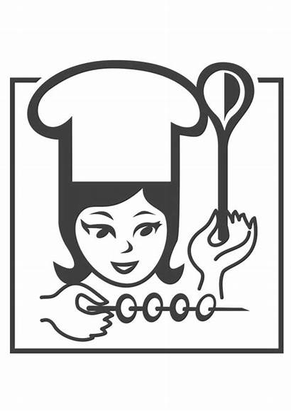 Chef Coloring Female Pages Printable Edupics