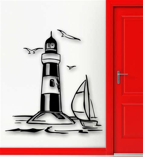 wall stickers vinyl decal lighthouse ocean sea landscape marine decor ig1399 ebay