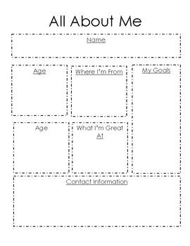 about me page template all about me template by msdrewenjoys teachers pay teachers