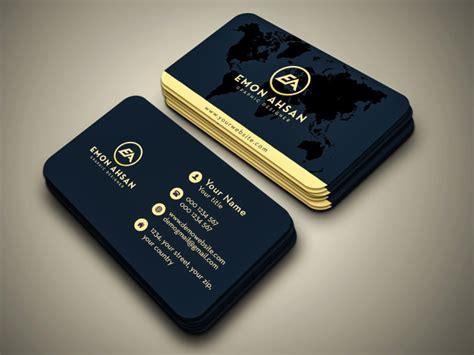 design minimalist business card  emonahsan