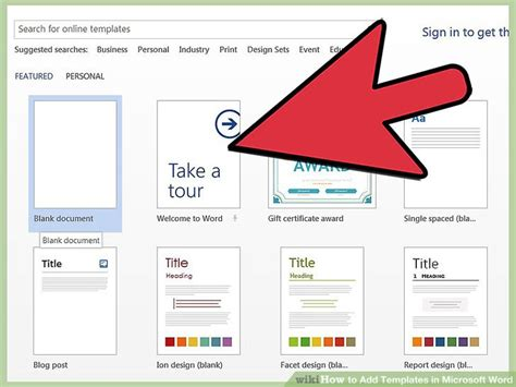 how to use templates in word 4 easy ways to add templates in microsoft word wikihow