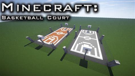 minecraft basket ball court tutorial youtube