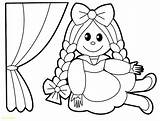 Doll Coloring Rag Pages Printable Inspiration Getcolorings Toy Print Col sketch template