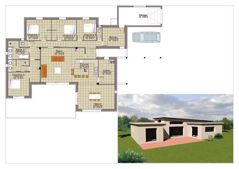 plan maison plain pied 3 chambres 1 bureau les maisons constructeur de maisons individuelles