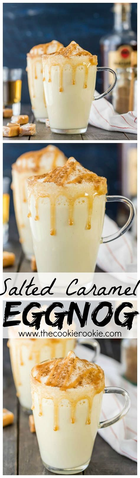 homemade salted caramel eggnog recipe eggnog recipe