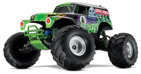 grave digger radio control monster truck traxxas monster jam grave digger 2 4ghz rtr radio