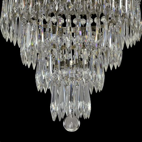 vintage tiered wedding cake chandelier silver plated