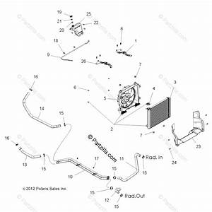 Polaris Side By Side 2014 Oem Parts Diagram For Engine  Cooling System All Options