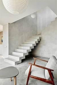 Escalier De Maison Interieur : les 25 meilleures id es concernant escalier beton cir sur ~ Zukunftsfamilie.com Idées de Décoration