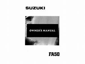 Suzuki Fa50 1985 Owner U0026 39 S Manual