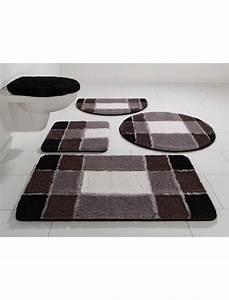 Badgarnitur Set Stand Wc : badematte stand wc set my home pia h he 20 mm microfaser rutschhemmender r cken von ~ Indierocktalk.com Haus und Dekorationen