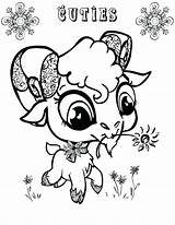 Goat Coloring Pages Cute Baby Eyed Animal Drawing Mountain Goats Printable Puppets Getcolorings Sheets Print Colorings Creative Go Getdrawings sketch template