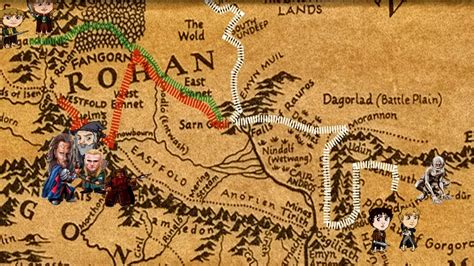Lord Of The Rings Animated Historic Map Timeline Of