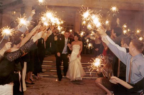 Wedding Sparklers Lighting Up The Party Bliss Events