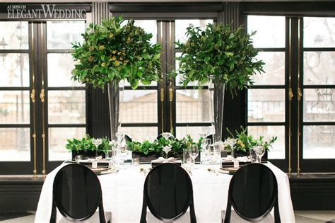 black and white wedding with pops of green elegantwedding ca